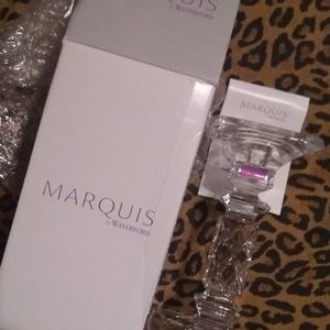 NEW Marquis by Waterford CRYSTAL CANDLESTICK NIB